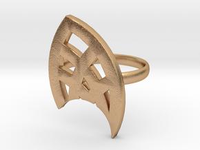Petal Ring in Natural Bronze