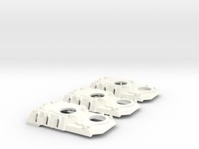 Heavy Transport Conversion, Open Windows - 3 Pack in White Processed Versatile Plastic