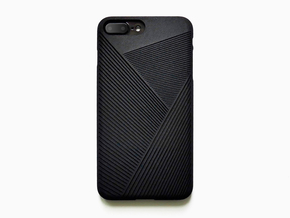 iPhone 7 plus case_Geometric No.2 in Black Natural Versatile Plastic