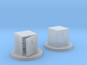 Bank Safe Tokens in Smooth Fine Detail Plastic
