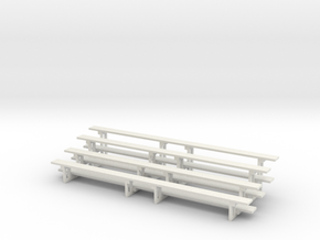 Printle Thing Bleachers - x2 - Horizontal - 1/87 in White Natural Versatile Plastic