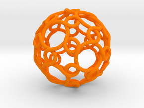 Link with Icosahedral Symmetry in Orange Processed Versatile Plastic
