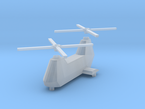 Twin-turbine helicopter in Smooth Fine Detail Plastic