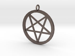 pentagram pendant in Polished Bronzed-Silver Steel