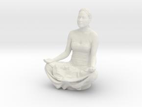 Lotus Pose in White Natural Versatile Plastic