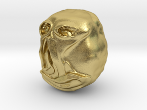"""""""Hello"""" Carving Sculpture (Dark Souls) in Natural Brass: Small"""