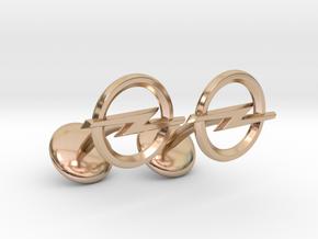 Opel Cufflinks in 14k Rose Gold Plated Brass