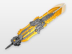 POTP Volcanicus 'Extinction' sword set (Extended) in Orange Processed Versatile Plastic