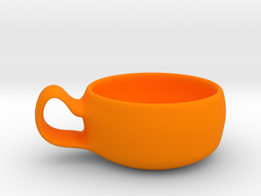 cup model B in Orange Processed Versatile Plastic