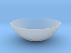 Hexagons Bowl (downloadable) in Smooth Fine Detail Plastic