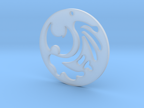 The Dark Souls Pendant in Smooth Fine Detail Plastic