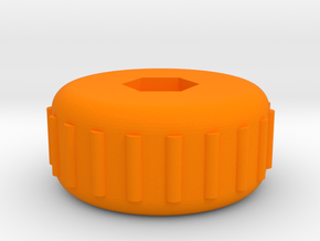 X-Carve Z Axis Knob in Orange Processed Versatile Plastic