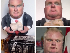 Rob Ford Canada's Mayor of Toronto in Full Color Sandstone