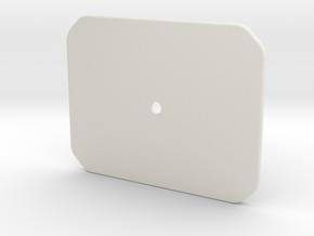 Hub - Enclosure Top in White Natural Versatile Plastic