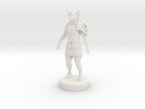 Minotaur in White Natural Versatile Plastic