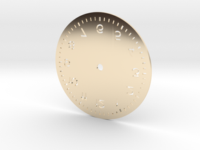 Numbered Dial in 14K Yellow Gold