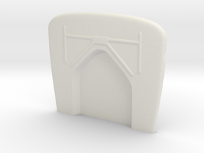 1/8  '30 Ford Firewall in White Natural Versatile Plastic