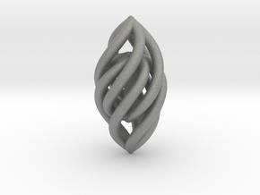 Spiral Pendant in Gray Professional Plastic