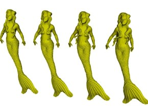 1/87 scale mermaid swimming figures x 4 in Smoothest Fine Detail Plastic