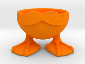 MOUSTACHE DUCK EGGCUP in Orange Processed Versatile Plastic