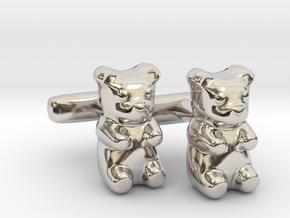 Gummy Bear Cufflinks in Platinum