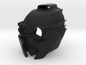 Kanohi Mask of Sensory Aptitude (Revised) in Black Premium Versatile Plastic