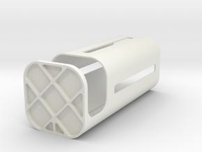 Tuna box  in White Natural Versatile Plastic