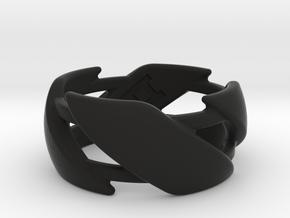 US10 Ring III in Black Premium Versatile Plastic