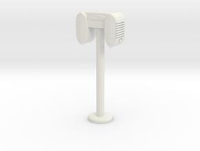 Drive-In Speaker / Stand  - 1:7.5 Scale in White Premium Versatile Plastic