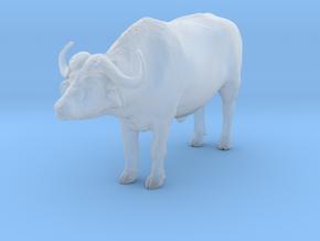 Cape Buffalo 1:48 Standing Male 3 in Smooth Fine Detail Plastic