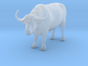 Cape Buffalo 1:48 Standing Male 4 in Smooth Fine Detail Plastic