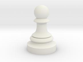 Pawn - F[1,0M/1,1C] Classic in White Natural Versatile Plastic