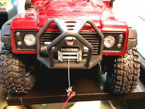 TRX-4, Front Stinger Bumper, Narrow Width in Black Natural Versatile Plastic