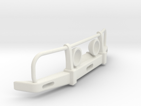 RC Toyota Hilux Bullbar with lights 1:4 scale in White Natural Versatile Plastic