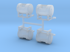 1/50th Mack type round fuel tanks in Smooth Fine Detail Plastic