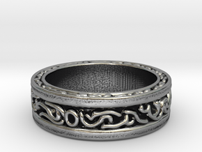 DarkMoon Ring Dark Souls in Antique Silver: 6 / 51.5