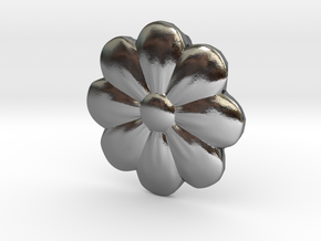 Little Flower Pendant in Polished Silver
