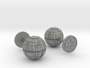 Death Star Cufflinks in Gray Professional Plastic