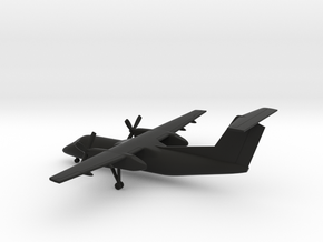 Bombardier Dash 8 Q200 in Black Natural Versatile Plastic: 1:200