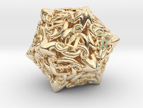 Cthulhu D20  in 14k Gold Plated Brass