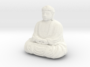 Great Buddha at Kamakura voxelized in White Processed Versatile Plastic