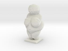 Venus of Willendorf voxelized in White Natural Versatile Plastic