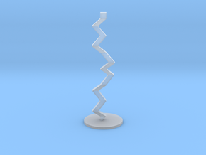 Thunderbolt Sculpture in Smooth Fine Detail Plastic