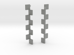 Goeritz Earrings in Gray Professional Plastic: Extra Small