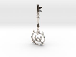 Darkness key in Rhodium Plated Brass