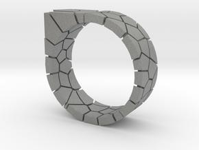 Generative Voronoi Ring 01 in Gray PA12