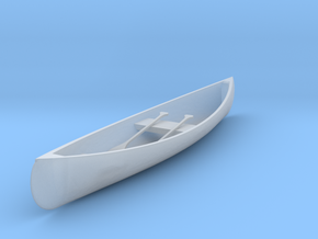 O Scale Canoe in Smooth Fine Detail Plastic