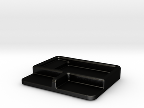Soy sauce dish with chopstick rest in Matte Black Steel