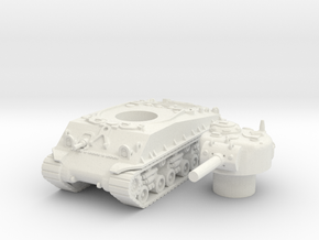 M4A3 105mm scale 1/87 in White Natural Versatile Plastic
