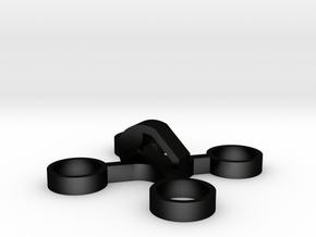 X-Quad solid key-charm Medium in Matte Black Steel: Medium
